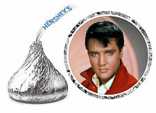 108 ELVIS PRESLEY BIRTHDAY PARTY FAVORS HERSHEY KISSES LABELS unpersonalized