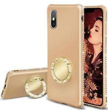iPhone XR Diamant Schutzhülle Magnetic Ring Standhalterung +Gratis dazu Halsband