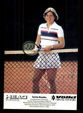Silviy Hanika autografiada mapa original firmado tenis + a 124394