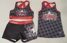 "Authentic 3 piece Girls Cheerleader Uniform: ""Stars"" (Corona, Ca)."