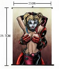Hot DC Anime Suicide Squad Harley Quinn Deadpool Home Decor Poster Wall Scroll Z