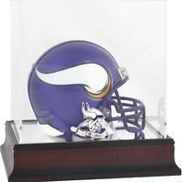 Minnesota Vikings Mahogany Mini Helmet Display Case - Fanatics