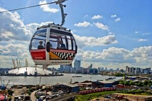 Emirates Air Line Cable Car Thames O2 Arena London Docklands Photograph Picture