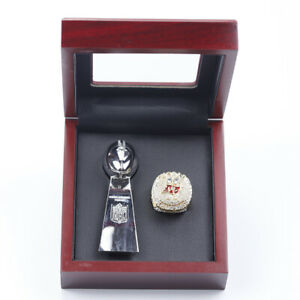 NEW 2020 Tampa Bay Buccaneers World Championship Trophy Set with Display Box