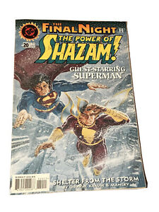 The Power Of Shazam No 20 DC Comics 1996 Guest Superman The Final Night