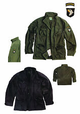 Army Vintage Feldjacke Airborne Parka Field Jacket stone washed schwarz oliv