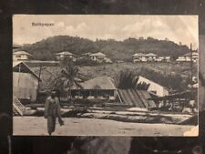 1937 Makasser Netherlands Indies RPPC Postcard Cover To New Zealand Balikpapan