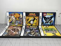Nintendo DS Game Lot of 6 Complete With Manuals