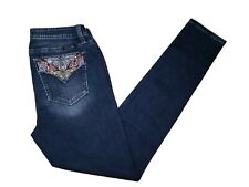 Miss Me Skinny Jeans Size 29 Low Rise Embroidered Butterfly Pockets Medium NWT