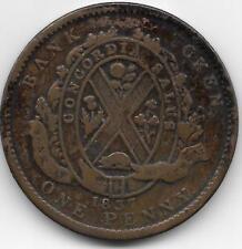 CANADA 1837  BANK OF MONTREAL PENNY TOKEN - VF CONDITON - BV$22.50