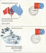 Australia Fdc 1971 Centenary Australian Natives Association-2 Covers