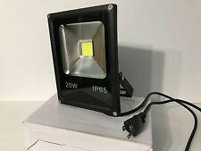 Slim 20W LED Flood Light IP65 Outdoor Indoor Garden Wash Security Lamp Black,NEW
