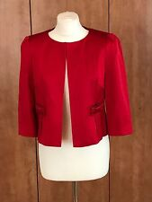 BNWT MARKS & SPENCER RED OCCASION SATEEN JACKET UK 14  BOW DETAIL MATCHES  DRESS