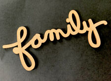 WOODEN FAMILY EMBELLISHMENT