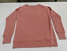 Champion C9 Womens Pullover Crewneck, Zippers, Salmon Pink, Size XS
