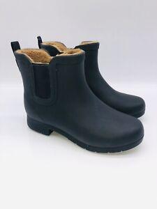 Chooka Women's Delridge Chelsea Waterproof Ankle Boots - BLACK (#2) - PRE OWNED