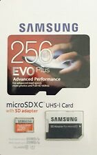 New Samsung EVO Plus 256GB Class 10 micro SD Memory Card For Tablet Mobile Cam