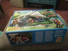 Playmobil 4843 Treasure Hunter's Camp With Giant Snake complete