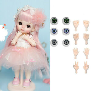 22.5cm BJD Doll 1/8 Ball Jointed Girl Pink Clothes Shoes Wigs Full Set DIY Toy