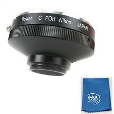 Nikon SLR Lens to C Mount Adapter f Bolex Movie or Closed Circuit TV Bower VA304