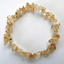 **BEAUTIFUL NATURAL CITRINE CRYSTAL CHIP BRACELET - HEALING / REIKI**
