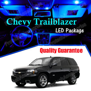Blue Interior LED Lights Package for 2002 - 2009 Chevrolet Chevy Trailblazer