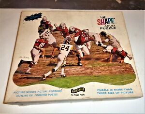 """Vintage Football Themed """"The Shape"""" 400 Piece Puzzle"""