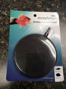 """Imagitarium Bubbling Aerate Disk Airstone 3.7"""". Fresh or Salt Water Fish Tank."""