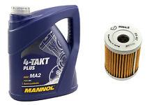Motoröl Set 10W40 4 Liter Ölfilter OX407 für Arctic Cat 250 Suzuki LT-F LT-Z 160