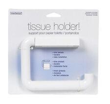 InterDesign Toilet Paper Holder - Wall Mount Roll Dispenser for Bathroom, White