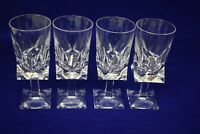 Lot of 4 Pasabahce quality cut crystal wine glasses - Turkish 6""