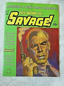His Name is Savage, #1 1968. Gil Kane. Lee Marvin Cover. Rare