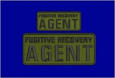 Fugitive Recovery Agent embroidery patches 4x10 and 2.5x6 hook OD/BLK