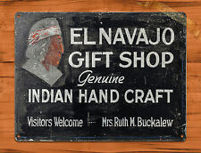 "TIN-UPS TIN SIGN ""Hand Craft Gift Shop"" Native Vintage Retro Art Wall Decor"