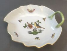 "Herend ROTHSCHILD BIRD #204 Leaf Dish 7.75"" MSRP $275"