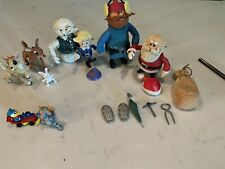 Vintage Rudolph The Red-Nosed Reindeer Characters With Accessories Great Shape.