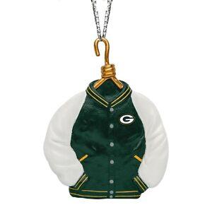 Green Bay Packers Christmas Tree Holiday Ornament New - Team Logo Varsity Jacket