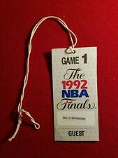 ORIGINAL 1992 CHICAGO BULLS NBA FINALS GAME #1 TICKET PASS