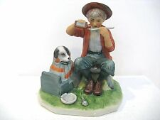 """NORMAN ROCKWELL  """"BOY AND HIS DOG""""  FIGURINE"""