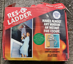 VINTAGE BOXED RES-Q- FIRE ESCAPE LADDER - 15' 2 STOREY ESCAPE LADDER