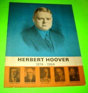 Vintage Herbert Hoover 1874-1964 magazine ~ Iowa Illustrated~ 1965