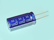 2pcs Elna RE2 2200uF 50v Radial Electrolytic Capacitor 18mmX36mm