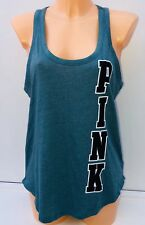 Victoria's Secret PINK Large Graphic Tank in Jade Size M BNWT