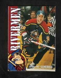 Peoria Rivermen--1996-97 Pocket Schedule--MasterCard--ECHL