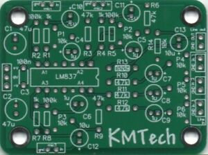KMTech 6-Channel LM837-based 3-Mic 3 line Mixer PCB DIY