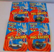 Matchbox Looney Tunes Pro Racers 1993 Wylie Coyote, Bugs Bunny, Daffy, Taz