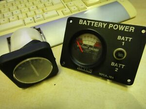 2 BOAT GAUGES battery power altus mpls + AMP USED MARINE