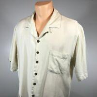 Tommy Bahama L Mens Hawaiian Shirt Size Large 100% Silk Short Sleeve