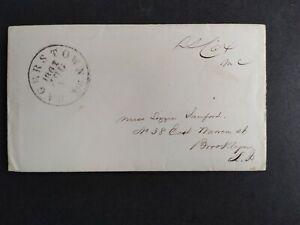 Free Frank: Samuel Cox 1861 Cover, Ohio Democrat, Hagerstown, Md CDS