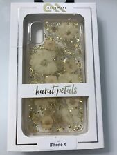 OEM Case-Mate Karat Petals Case for iPhone X Real Flowers  White - USA SELLER